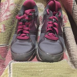 Nike air max 2014 6y w8 grey pink used condition